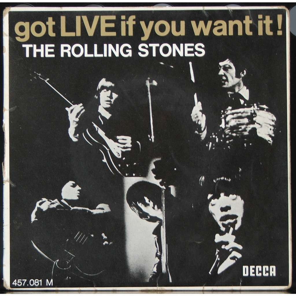 Bildergebnis für fotos vom ep cover der rolling stones got live it you want it