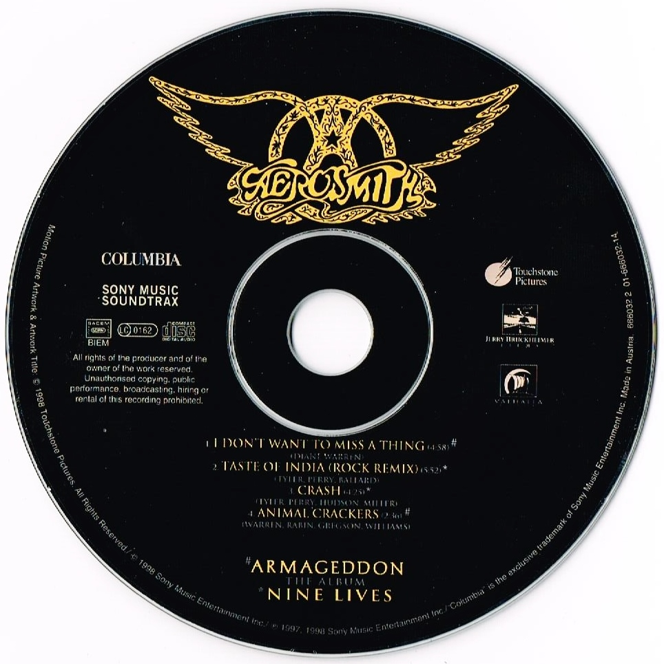 I Don't Want To Miss A Thing By Aerosmith, CDS With