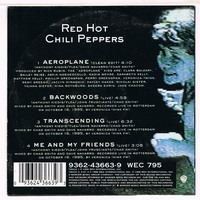 RED HOT CHILI PEPPERS aeroplane ( clean edit ) / backwoods ( live ) / transcending ( live ) / me and my friends ( live )