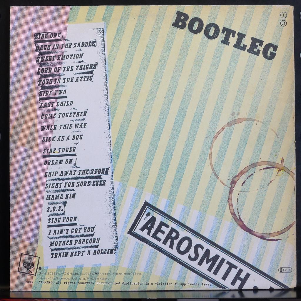 Opinion you aerosmith live bootleg album cover