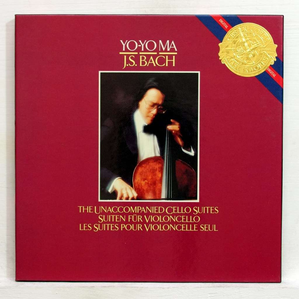 Js Bach The Unaccompanied Cello Suites By Yo Yo Ma Lp
