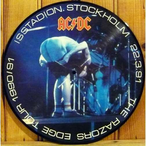 the razors edge tour picture disc by ac dc lp with
