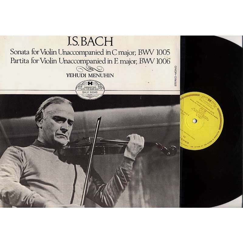 Menuhin Yehudi - Bach:sonata For Violin In C Major/partita For Violin In E Major