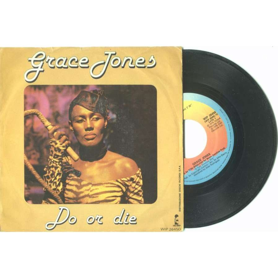 Grace Jones Do Or Die (Italian 1978 2-trk 7 single unique ps)