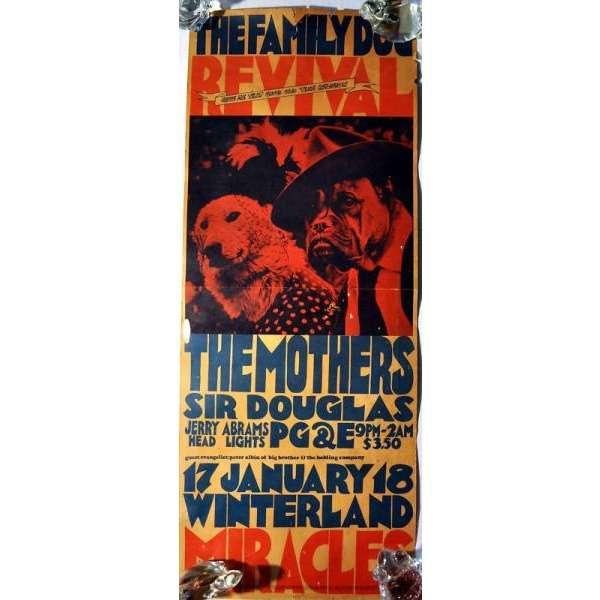 Frank ZAPPA / Mothers of Invention Winterland 17-18.01.1969 (USA 1969 original concert poster)