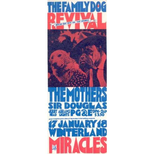 Frank ZAPPA / Mothers of Invention Winterland 17-16.01.1969 (USA 1969 original concert promo flyer)