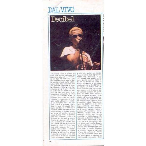 Enrico Ruggeri / Decibel CIAO 2001 (06.08.1978) (ITALIAN 1978 MUSIC MAGAZINE)