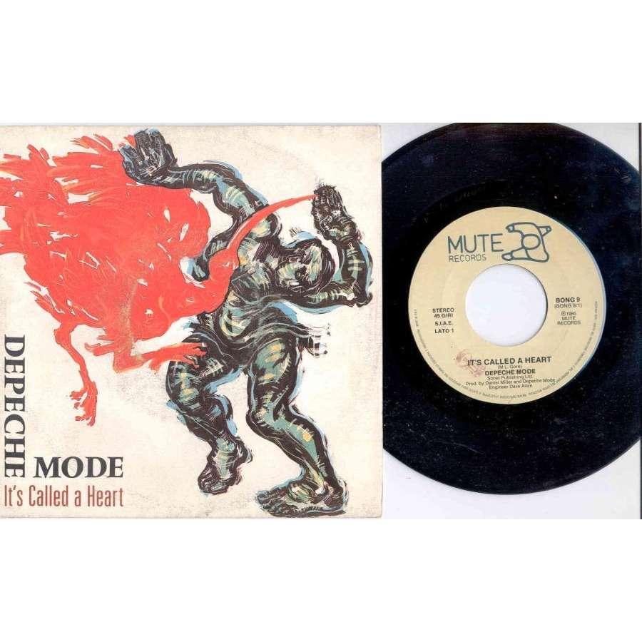 Depeche Mode It's called a heart (Italian 1985 2-trk 7 single full ps)
