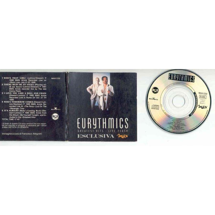 Eurythmics Greatest Hits- Live Flash (Italian promo 5-trk 3inch cd unique card gf ps)