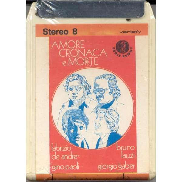 Fabrizio De Andre' Amore Cronaca e Morte (Italian 1972 8-trk Stereo8 Cartridge album unique ps)