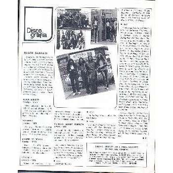 Black Sabbath CIAO 2001 (12.01.1975)  (ITALIAN 1975 MUSIC MAGAZINE)