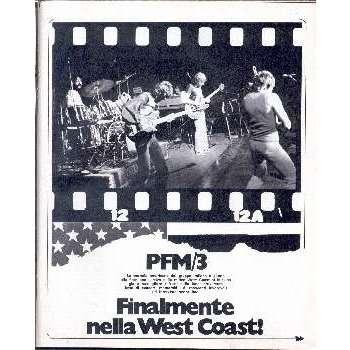 pfm / premiata forneria marconi CIAO 2001 (12.01.1975) (ITALIAN 1975 MUSIC MAGAZINE)