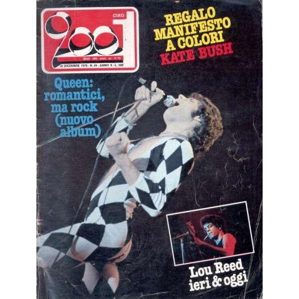 Queen CIAO 2001 (10.12.1978) (ITALIAN 1978 QUEEN FRONT COVER MAGAZINE)
