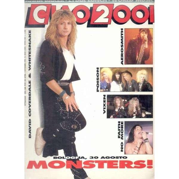 Deep Purple / Whitesnake CIAO 2001 (04.09.1990) (ITALIAN 1990 WHITESNAKE FRONT COVER MAGAZINE)