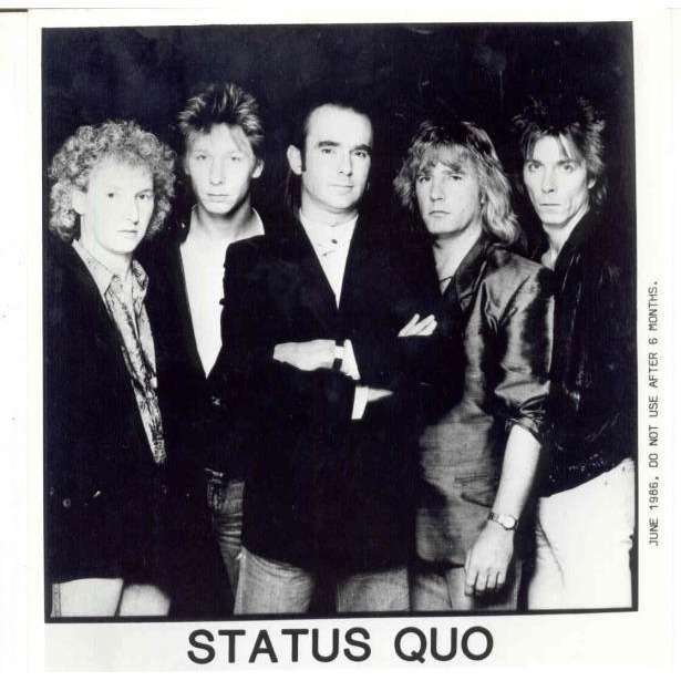 Status Quo Status Quo (UK 1986 original press kit promo photo)