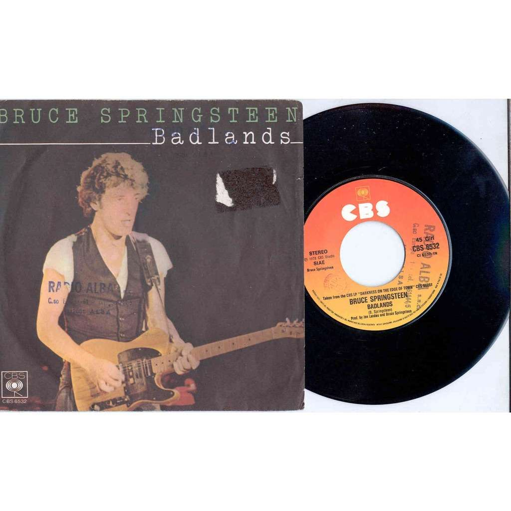 Bruce Springsteen Badlands (Italian 1978 'Radio promo copy' 2-trk 7 single absolutely unique ps)