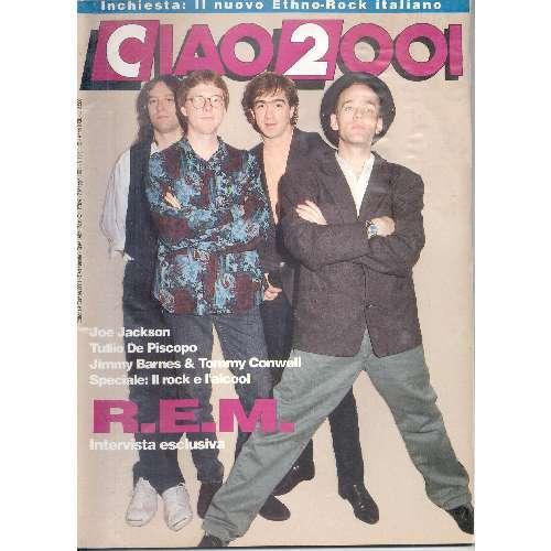 rem: r.e.m. CIAO 2001 (07.05.1991) (ITALIAN 1991 REM FRONT COVER MAGAZINE)