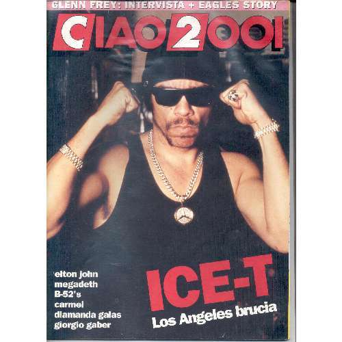 Body Count / Ice-T CIAO 2001 (11.04.1992) (ITALIAN 1992 ICE-T FRONT COVER MAGAZINE)