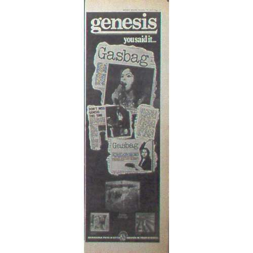 genesis YOU SAID IT... (UK 1972 CHARISMA PROMO TYPE ADVERT ALBUMS POSTER)