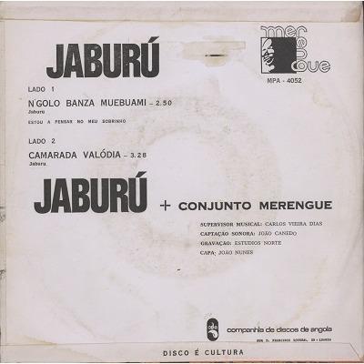 Jaburu e Conjunto Merengue N'Golo Banza Muebuami / Camarada Valodia