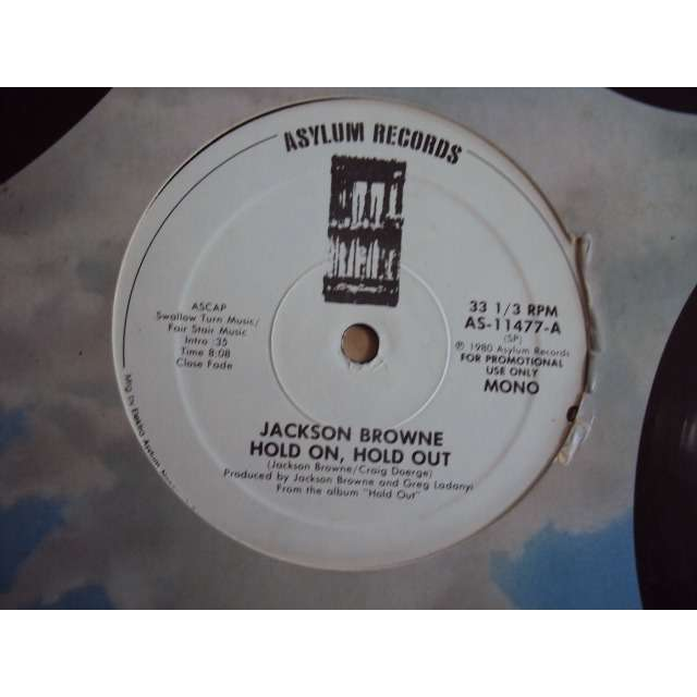 JACKSON BROWNE HOLD ON, HOLD OUT 1980 USA PROMO COPY