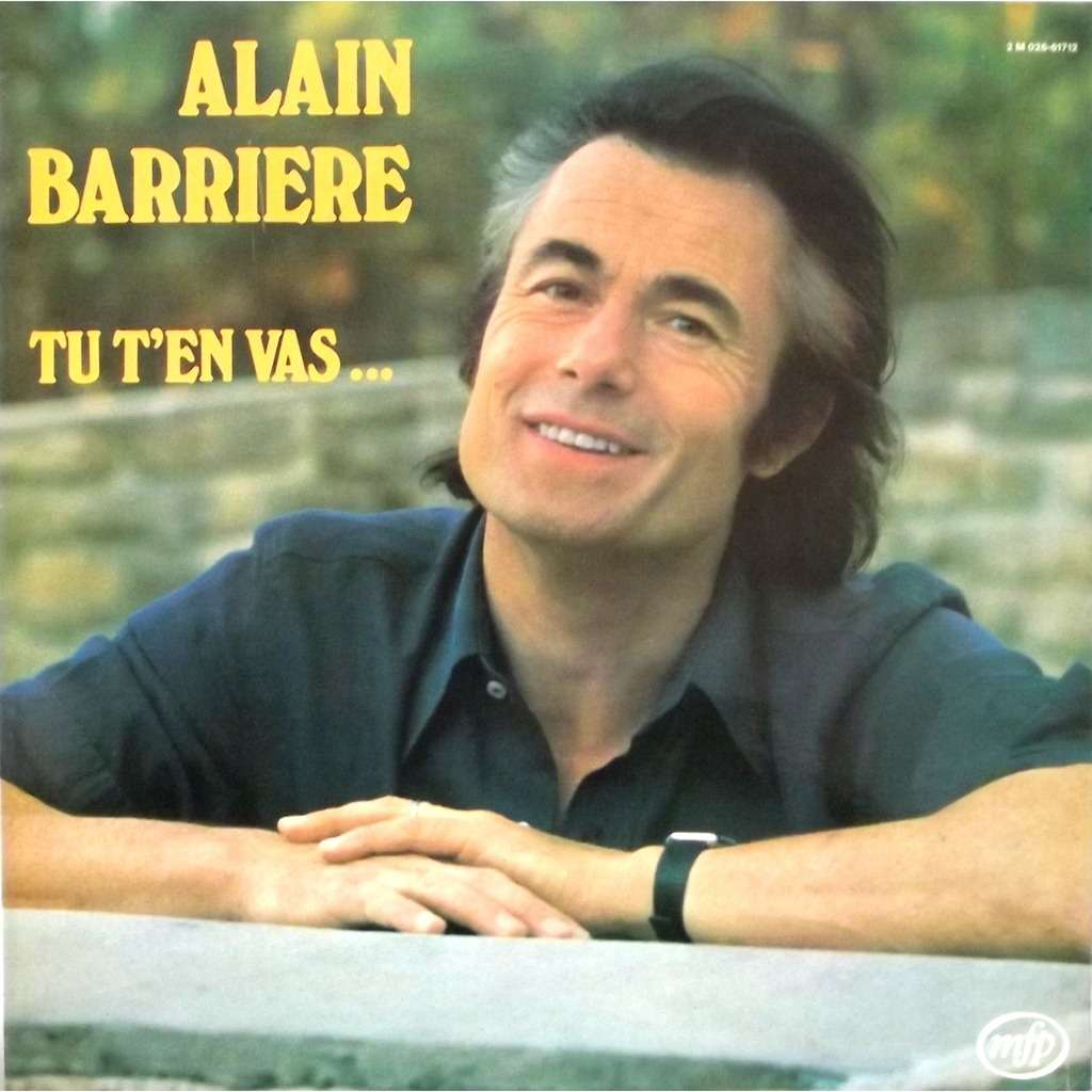 Paroles Tu T'en Vas par Alain Barrière - Paroles.net …