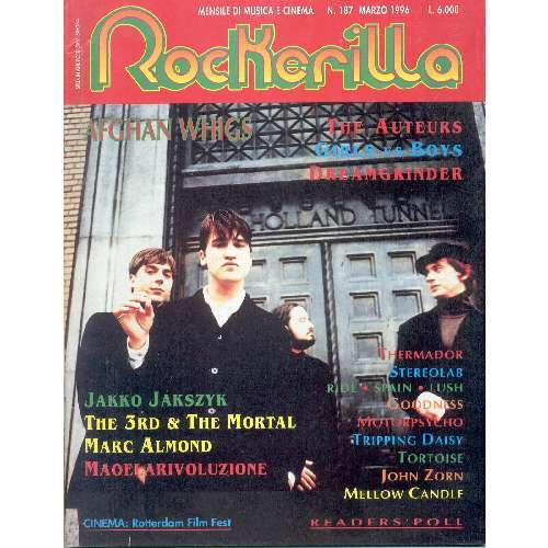 Afghan Whigs ROCKERILLA (N.187 APRIL 1996) (ITALIAN 1996 AFGHAN WHIGS FRONT COVER MAGAZINE)
