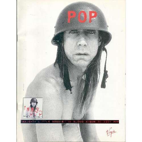 iggy pop Naughty Little Doggie (Italian 1996 promo type advert album poster)