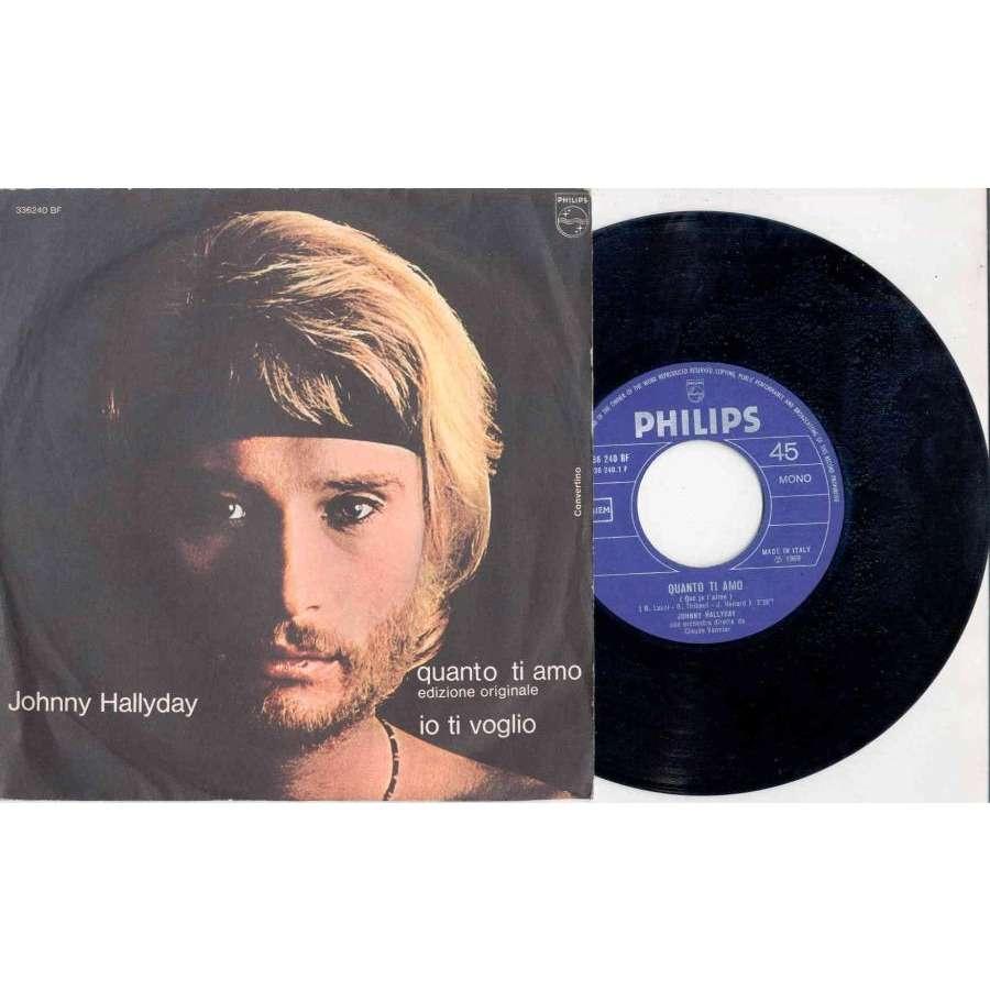 Johnny Hallyday Quanto <b>Ti Amo</b> (Italian 1969 2-trk 7 single absolutely unique <b>...</b> - 116264318