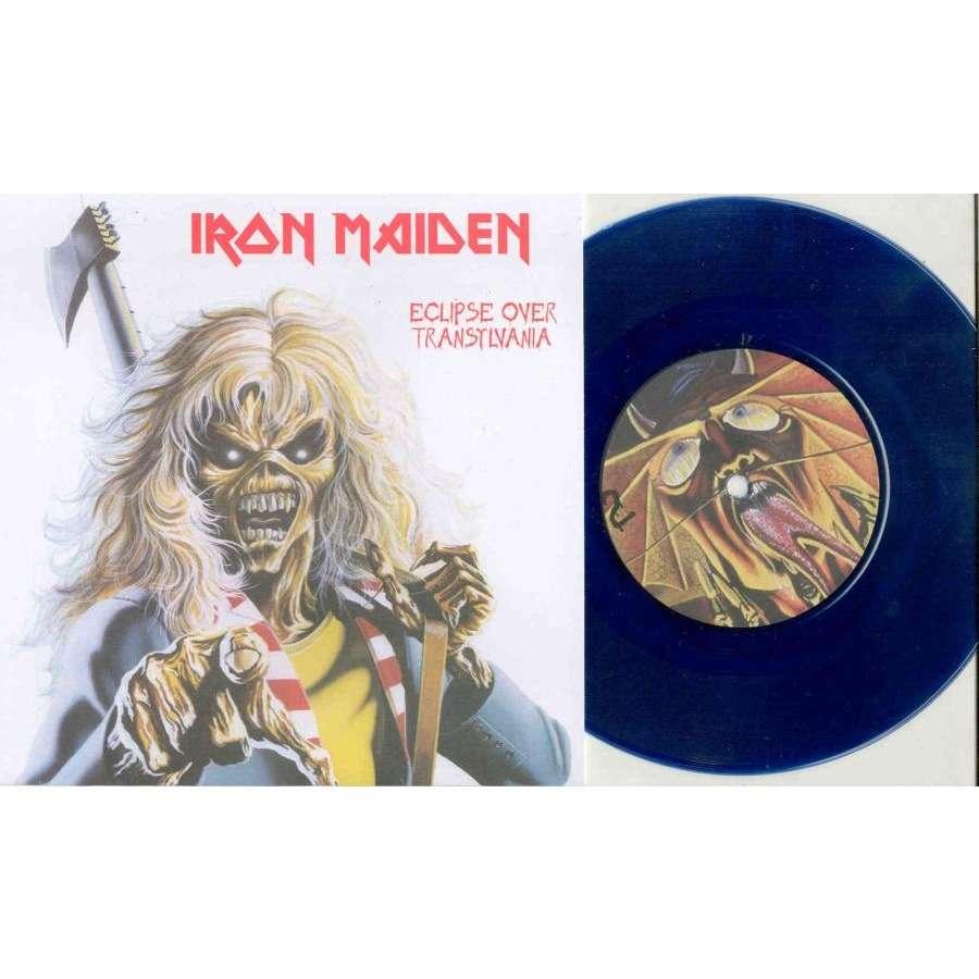 Iron Maiden Eclipse Over Transylvania (Ltd 100 copies 2-trk live 7 BLU vinyl ps)