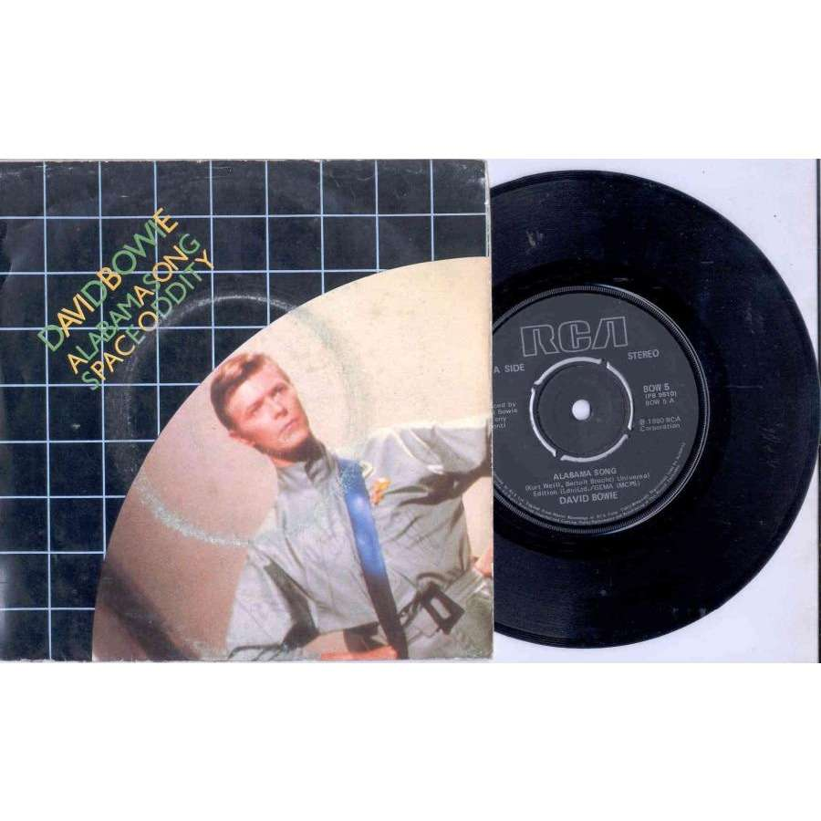 David Bowie Alabama Song (UK 1980 Ltd 2-trk 7 single unique poster ps)