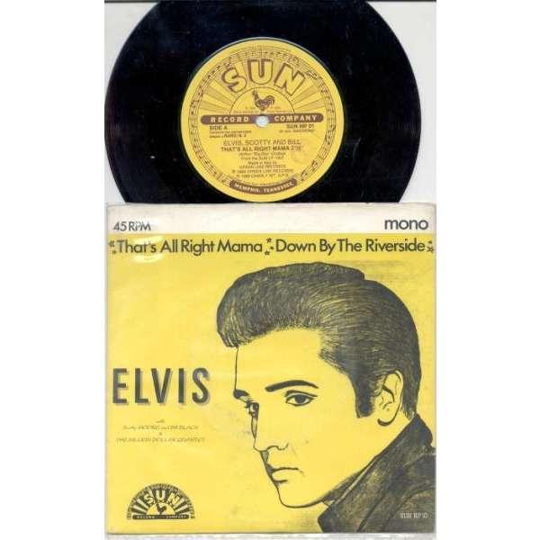 Elvis Presley That's All Right Mama (Italian 1989 Ltd 2-trk 7 promo single on Sun lbl unique ps)