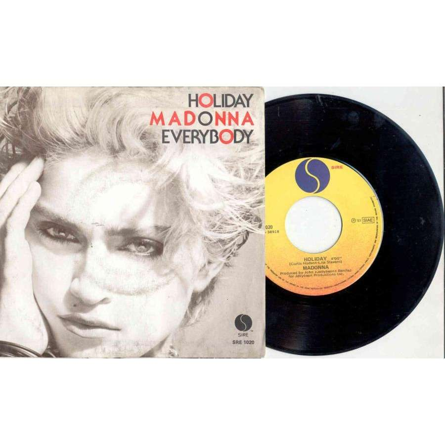 Madonna Holiday (Italian 1983 2-trk 7 single unique ps)