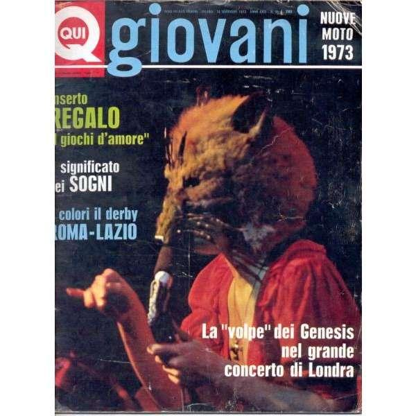 Genesis Qui Giovani (16 Nov. 1972) (Italian 1972 Genesis front cover magazine)