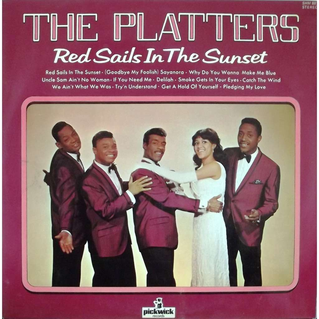 Red Sails In The Sunset By The Platters Lp With Vinyl59