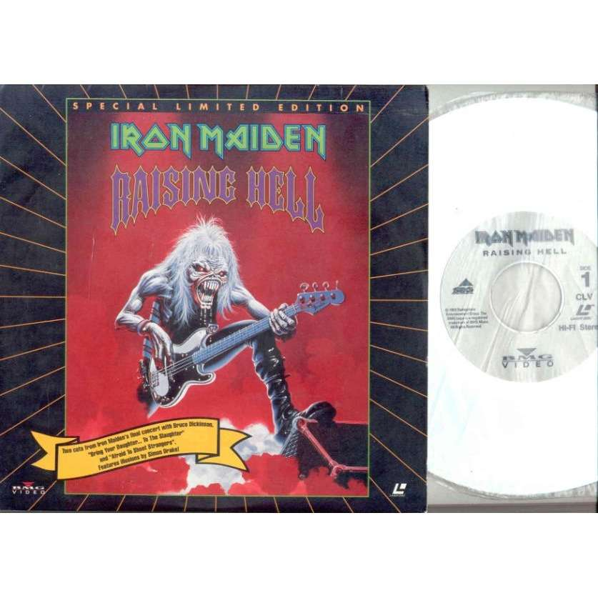 Iron Maiden Raising Hell (USA 1993 promo-only 2-trk 8inch LaserDisc Video unique ps)