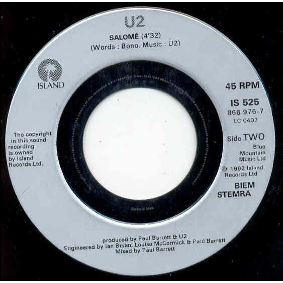 U2 Even better than the real thing (French 1992 2-trk jb 7 single promo)