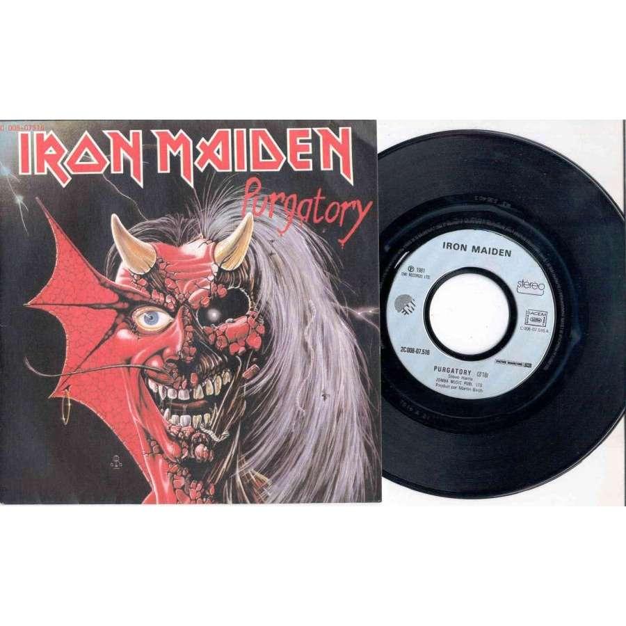 Iron maiden Purgatory (French 1981 Ltd 2-trk 7 single full ps)