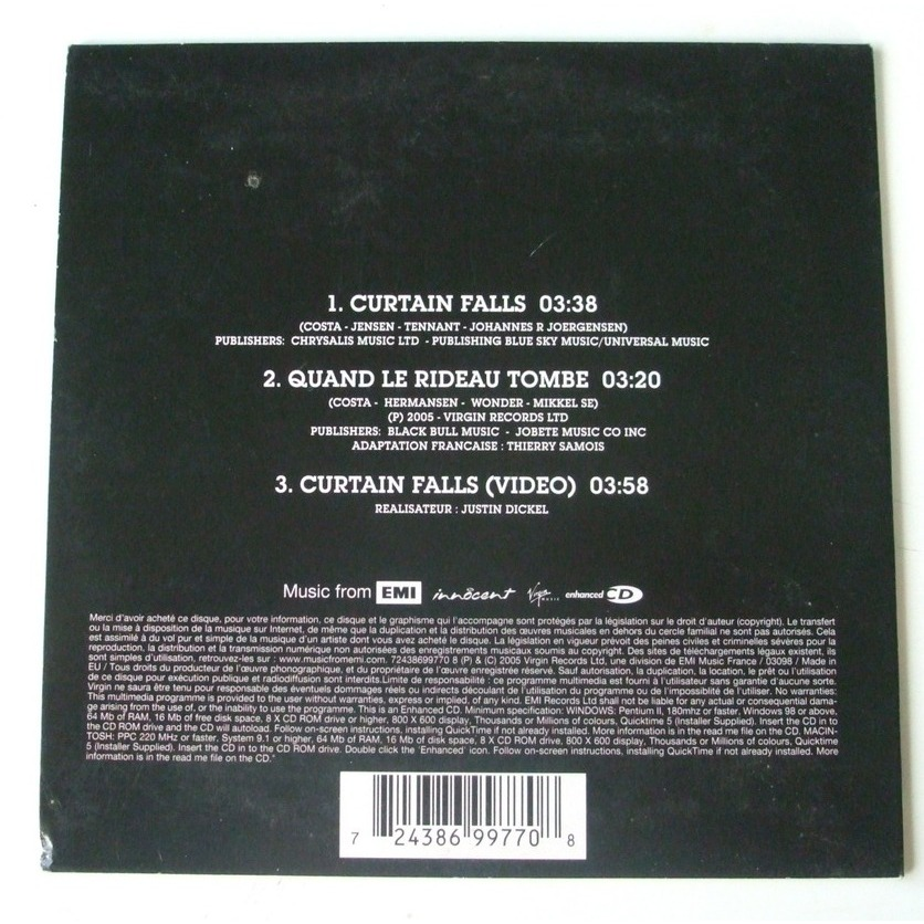 Curtain falls / quand le rideau tombe by Blue, CDS with dom88 - Ref ...