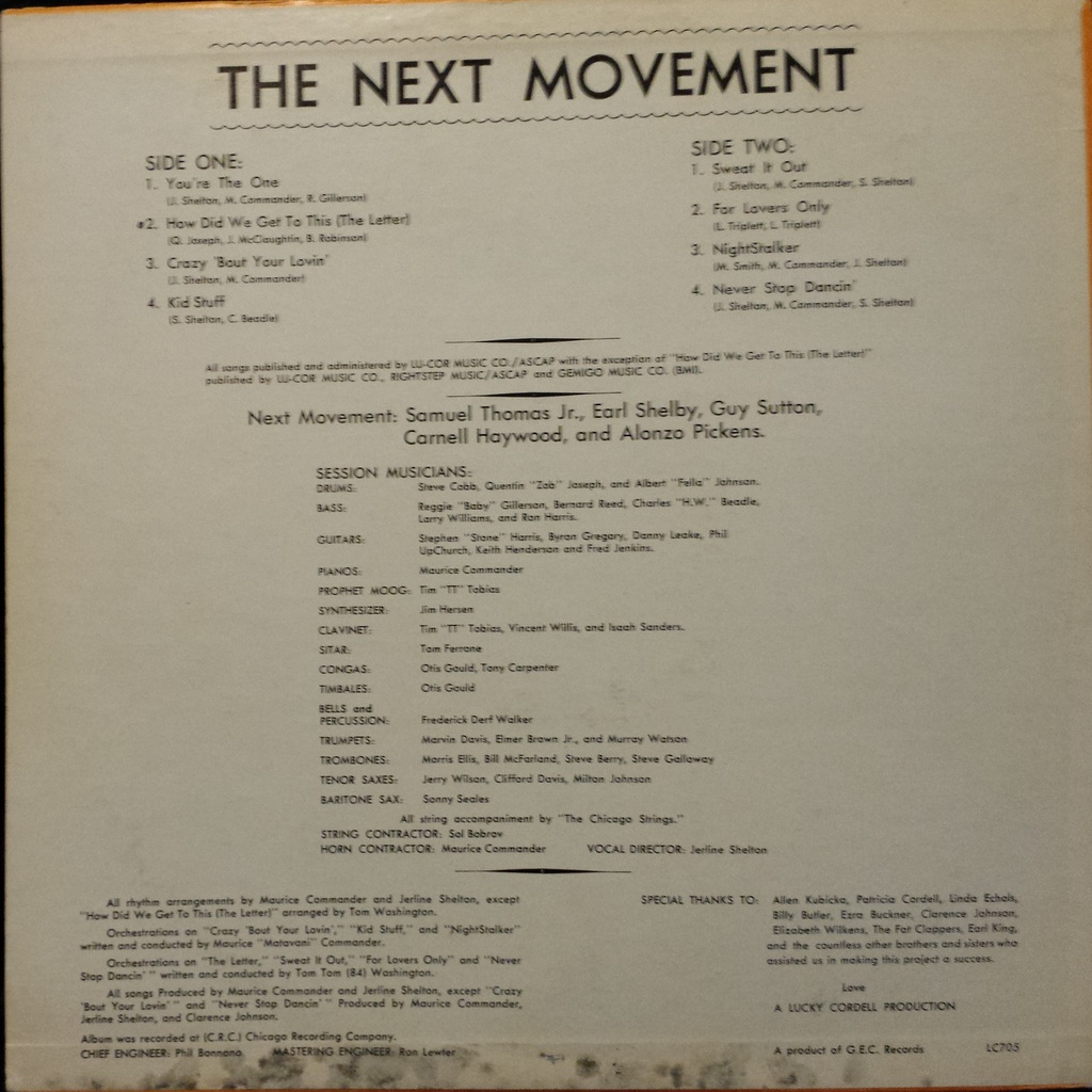 Never stop dancing by The Next Movement, LP with yrf7791