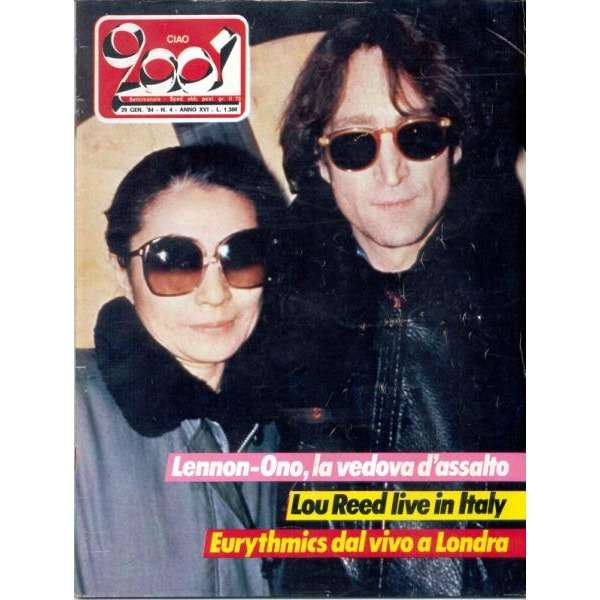 Beatles / John Lennon CIAO 2001 (29.01.1984) (ITALIAN 1984 LENNON FRONT COVER MAGAZINE)