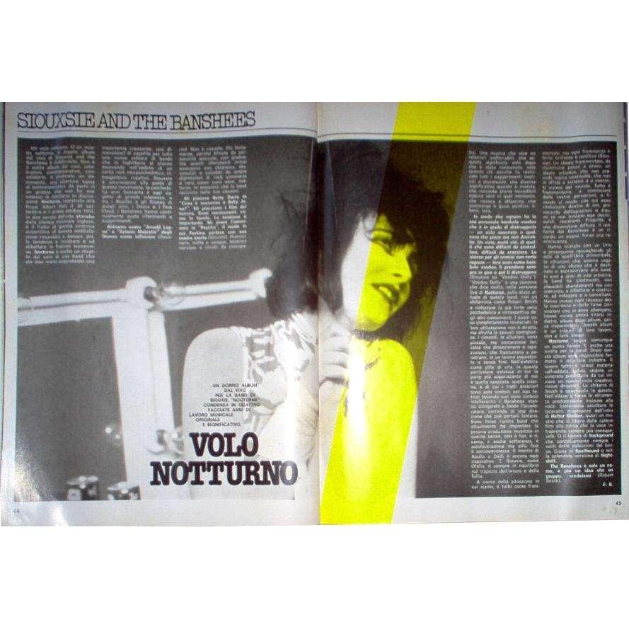 Siouxsie & the Banshees CIAO 2001 (29.01.1984) (ITALIAN 1984 music MAGAZINE)