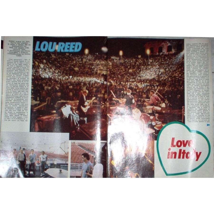 Velvet Underground / Lou Reed CIAO 2001 (29.01.1984) (ITALIAN 1984 music MAGAZINE)