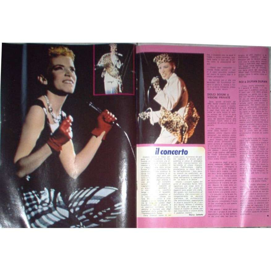 Eurythmics CIAO 2001 (29.01.1984) (ITALIAN 1984 music MAGAZINE)