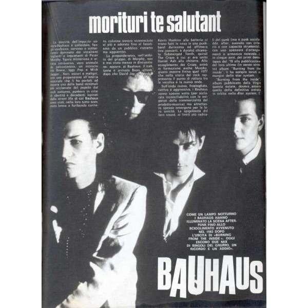Bauhaus CIAO 2001 (29.01.1984) (ITALIAN 1984 music MAGAZINE)