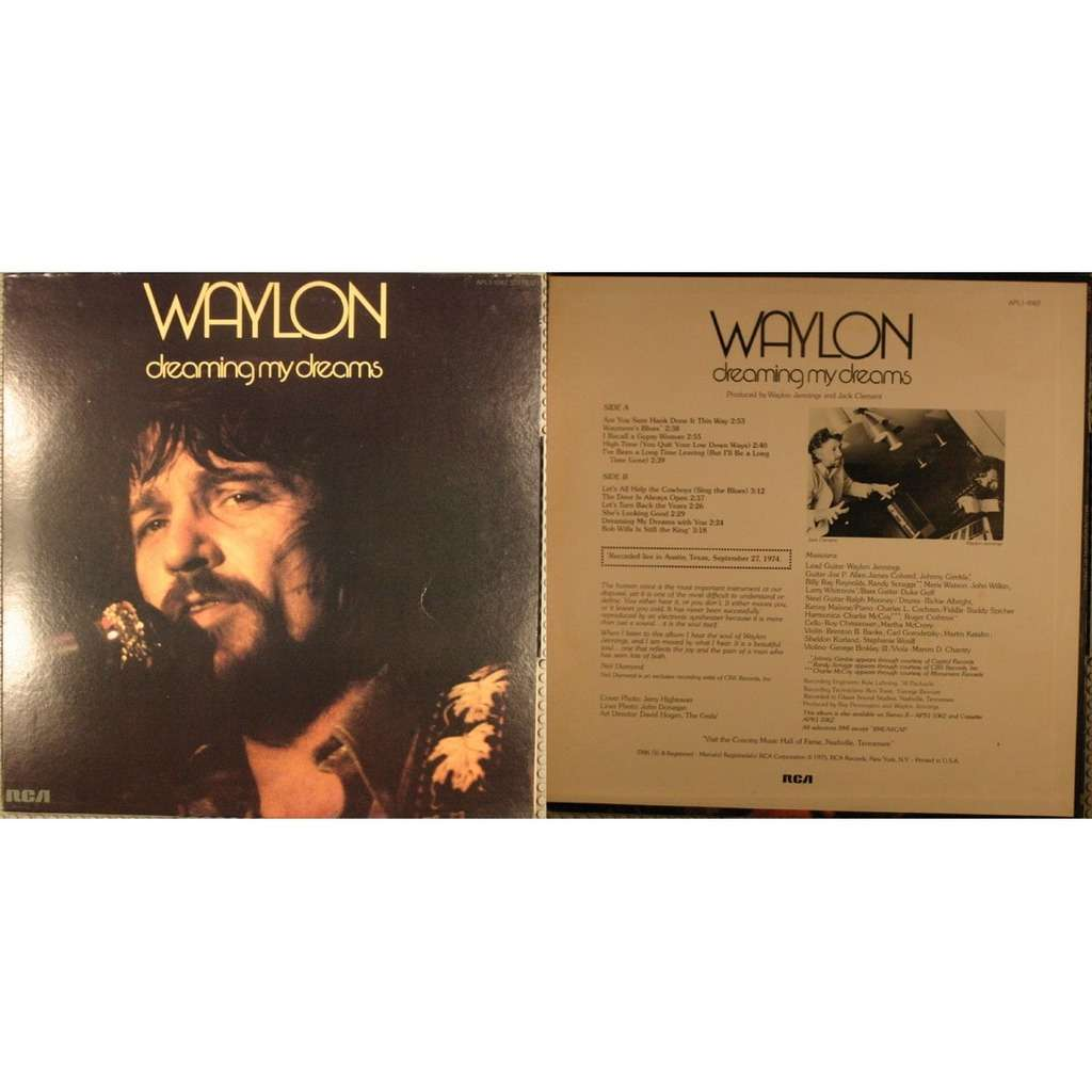 Dreaming My Dreams By Waylon Jennings Lp With Lionbelant