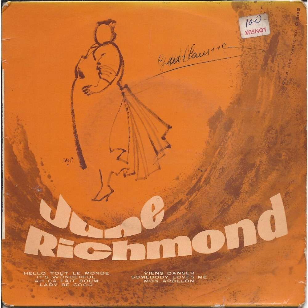 f2a87666952955 Hello tout le monde + 6 by June Richmond, Mini LP with boncla01 ...
