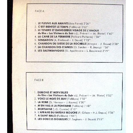 Jacques douai vol 2 - chansons poetiques anciennes et modernes