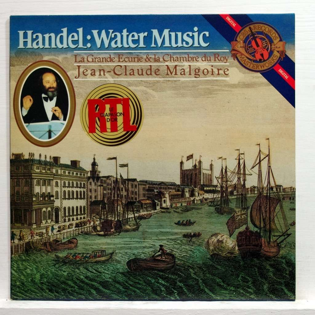 Handel Water Music By Jean Claude Malgoire Lp With