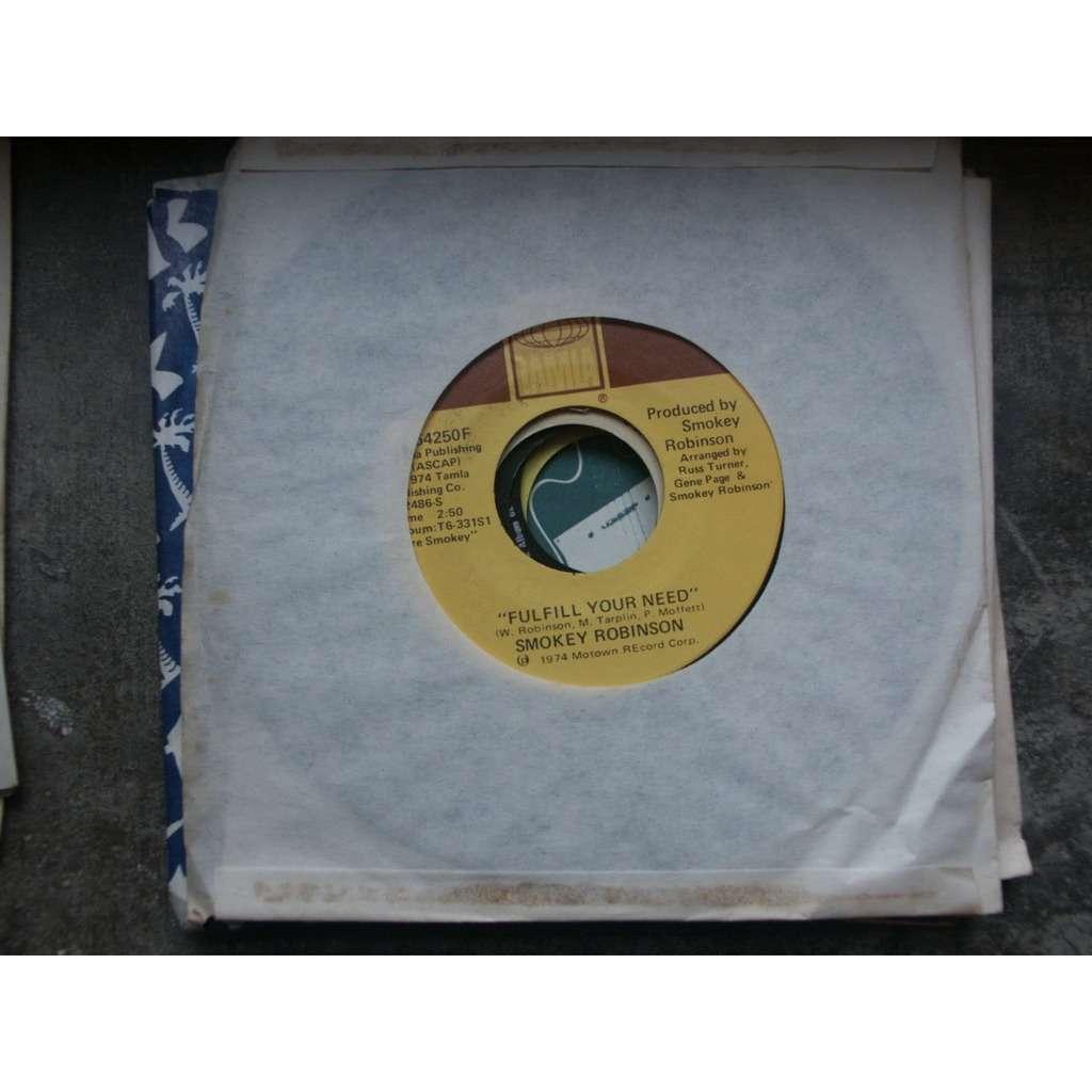 Smokey Robinson Virgin Man / Fulfill Your Need